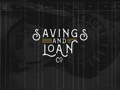 Savings and Loan Co. Logo by Sean Ball #Design Popular #Dribbble #shots