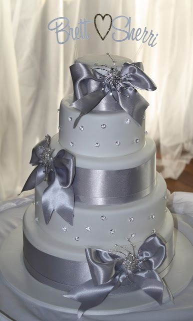 This Grey Would Be Beautiful With Navy Blue Ribbon I M