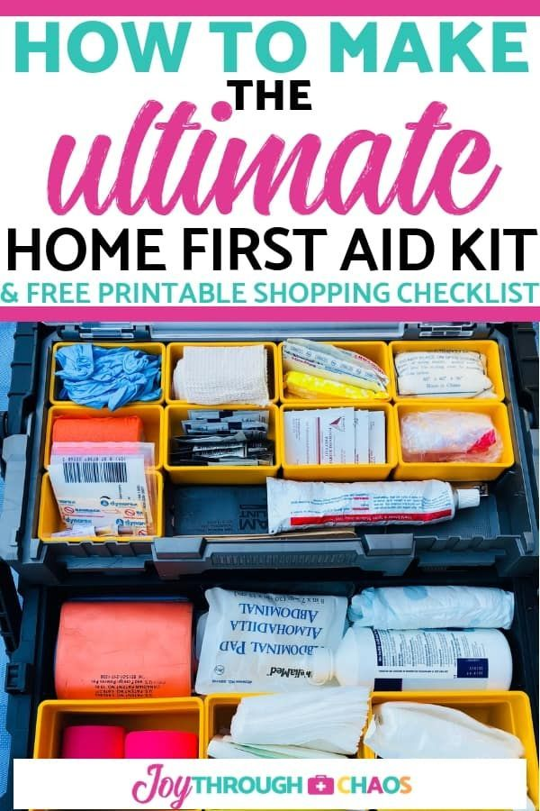 Best DIY Family First Aid Kit | With Printable First Aid Kit Checklist