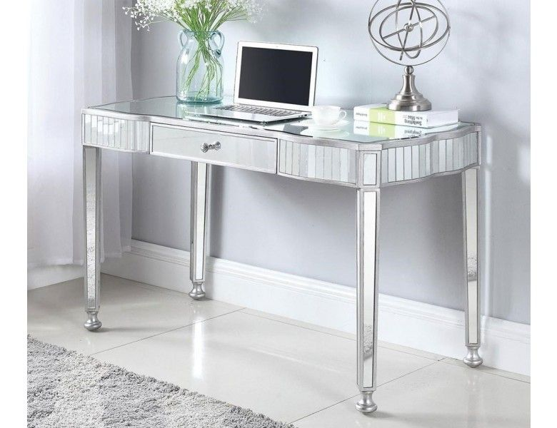Lindberg Mirrored Writing Desk With Images Home Office Design