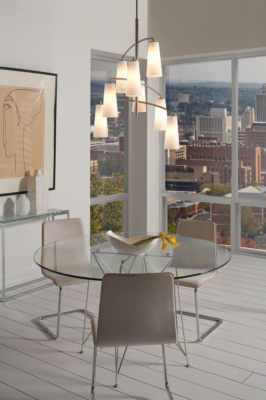 feiss lighting coddington brushed steel mini-chandelier | cleanses