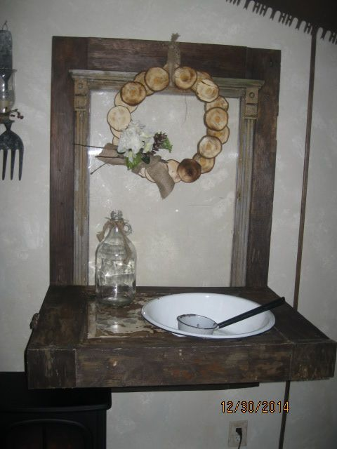 dry sink out of an old door