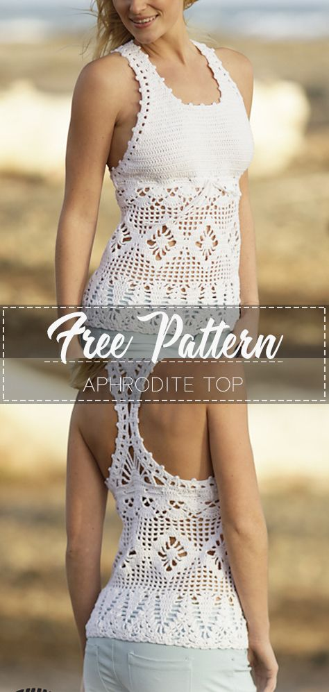 Aphrodite Top – Pattern Free – Easy Crochet #crochetclothes