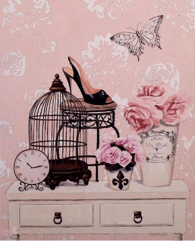طباعة لوحات فلين حسب رغبتكم صور للطباعه فلين لوح صور طباعه بيع خلطات بناتي غرفتي تنظيم م Merva9 Vintage Pink Bird Decoupage Paper Vintage