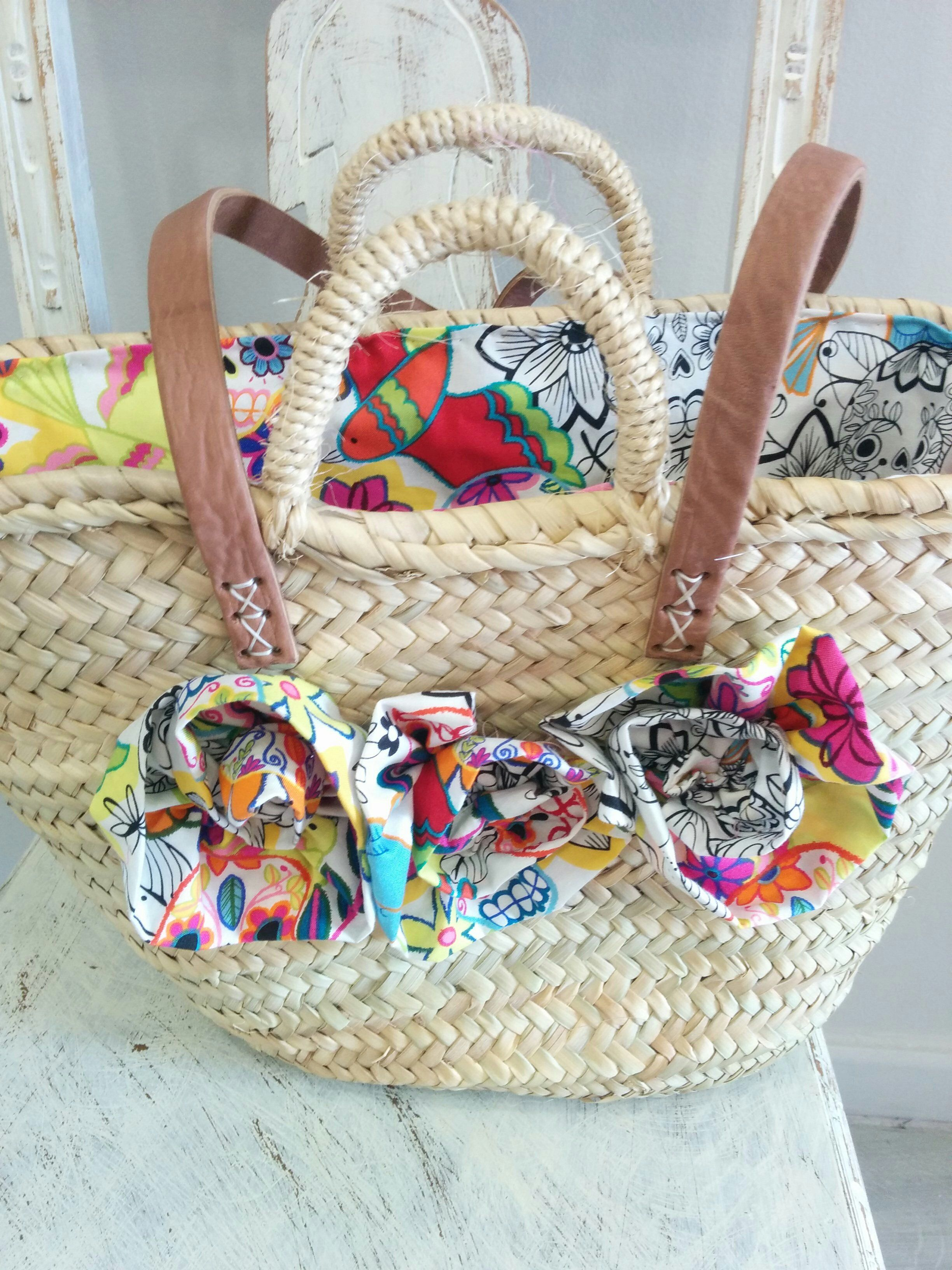 Cestas de mimbre decoradas cesta decorada marron y crema formas de decorar cestas de mimbre - Capazo mimbre playa ...