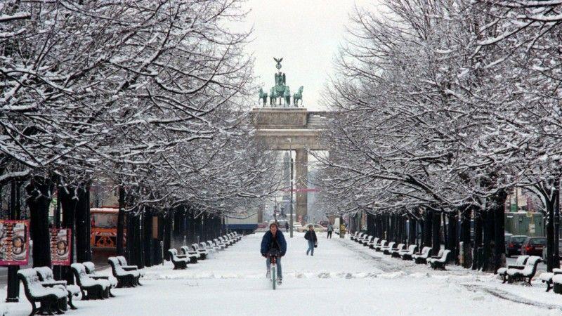 Berlin Brandenburger Tor Winter Kalter Winter Berlin
