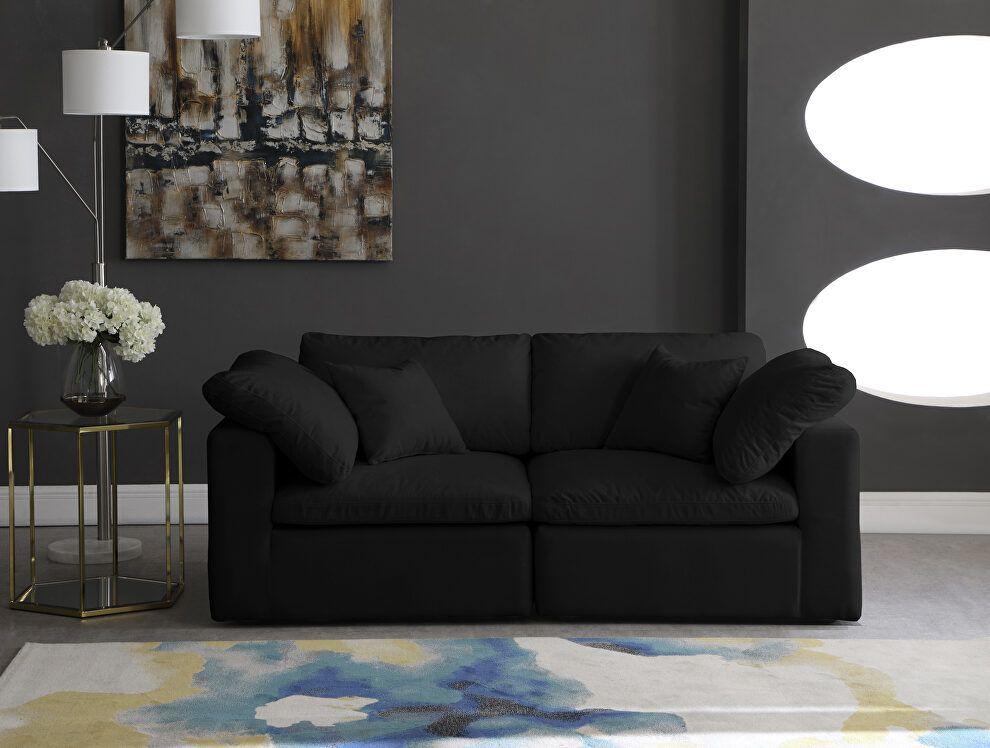 Cozy S80 Black Sofa 634black S80 Meridian Furniture Fabric Sofas Fabric Sofa Sofa Furniture