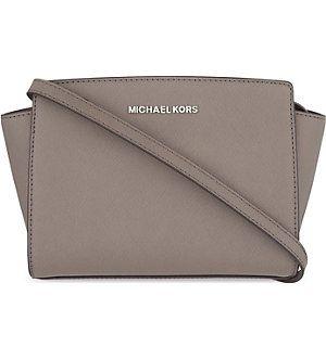 2fa70780233b MICHAEL MICHAEL KORS Selma medium Saffiano leather messenger bag (Cinder)