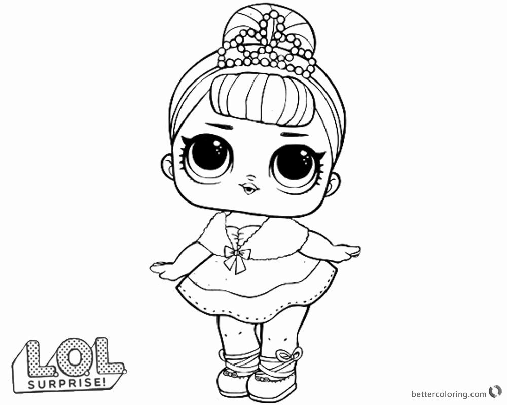 Lol Dolls Coloring Page Fresh Lol Surprise Doll Coloring Pages Crystal Queen Free Printable Flower Coloring Pages Lol Dolls Coloring Pages