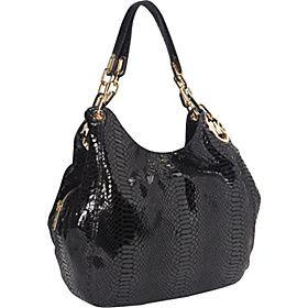 Women Shiny Patent Leopard Print Large Tote Shoulder Handbag Hobo Shopper Bag