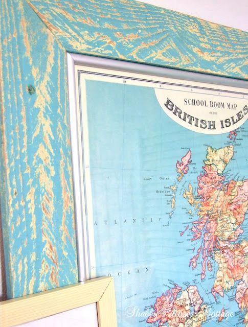 Shabby-Roses-Cottage - wood pallet & maps