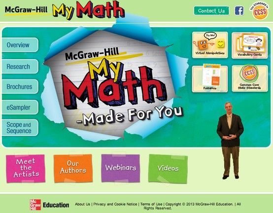Mcgraw Hill My Math Is Also A Finalist In Whole Curriculum Programs Find Out More At Https Www Mheonline Com Mhmymath Mcgraw Hill Math Math Math Worksheets
