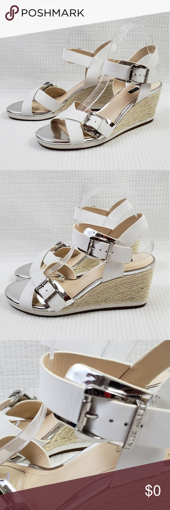 54153bb97f Alex Marie ankle strap wedges sandals shoes sz 9M Preowned, gently used wedge  shoes,