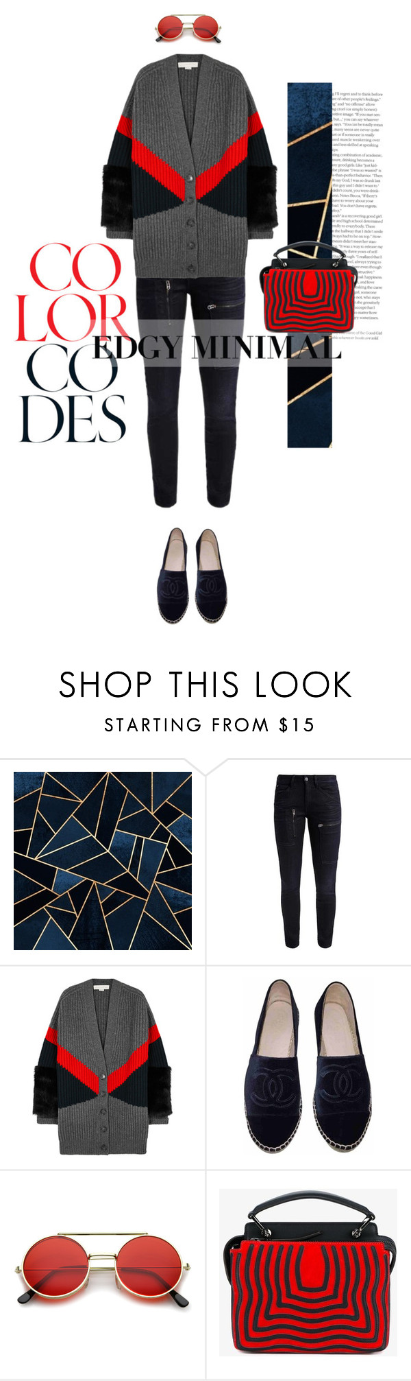 """""""Edgy Minimal"""" by larizoid ❤ liked on Polyvore featuring G-Star, STELLA McCARTNEY, Chanel, ZeroUV and Fendi"""