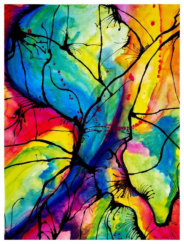 30 ways to make Abstract Art projects | Art: Watercolor