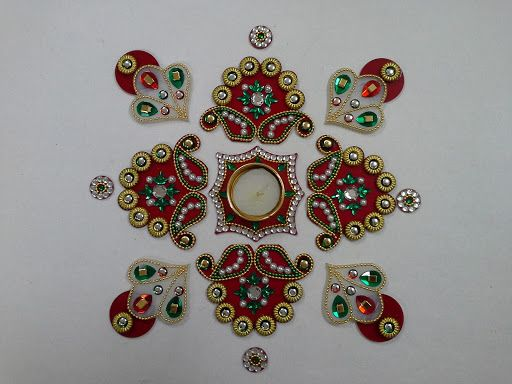 rangoli designs with beads - Google Search
