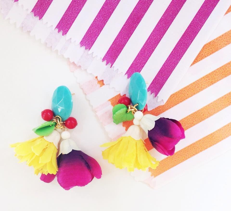 flowers earing by GUT GIL jewelry designer Israel Tel aviv Club