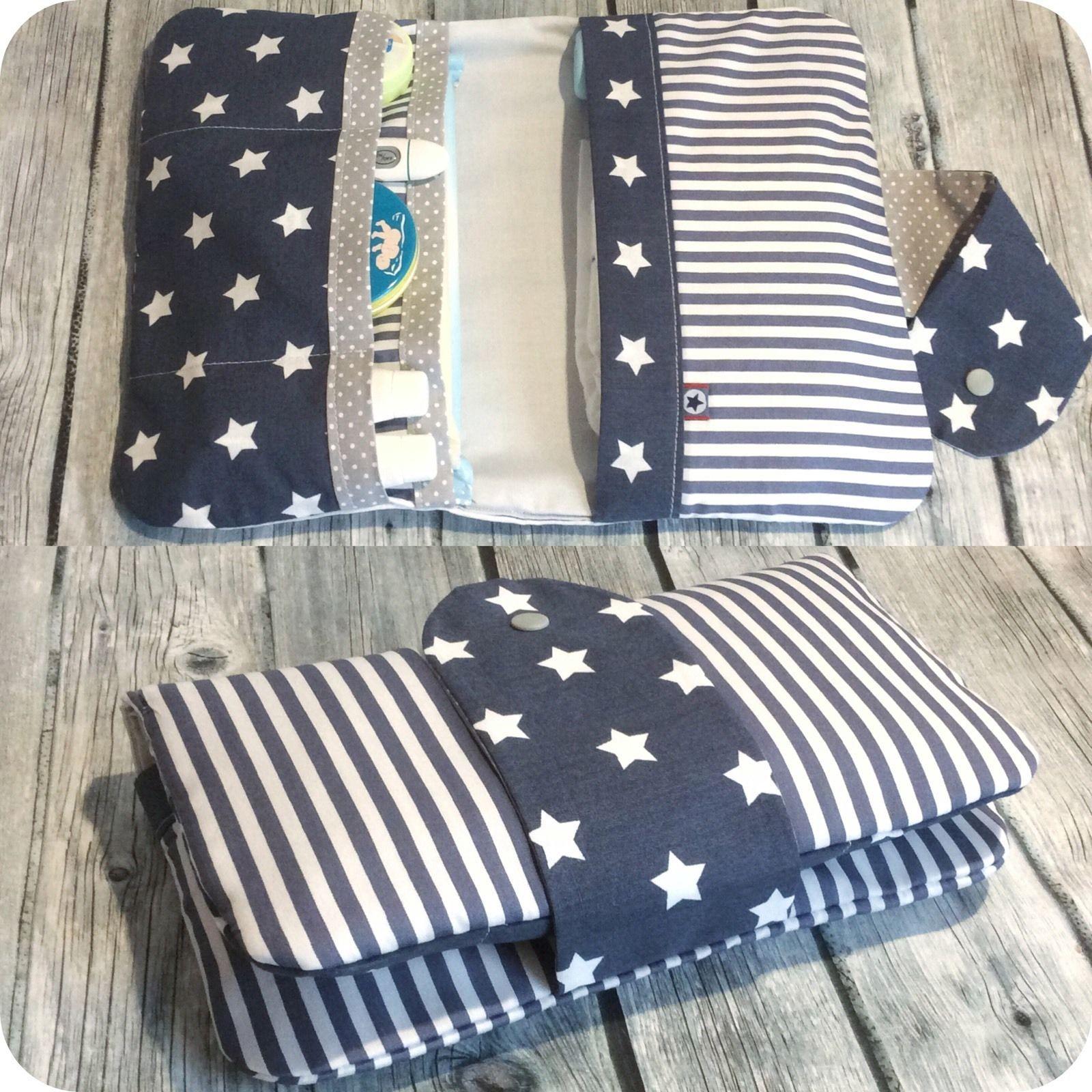 windeltasche sterne streifen wickeltasche unikat geschenk baby ebay sewing pinterest. Black Bedroom Furniture Sets. Home Design Ideas