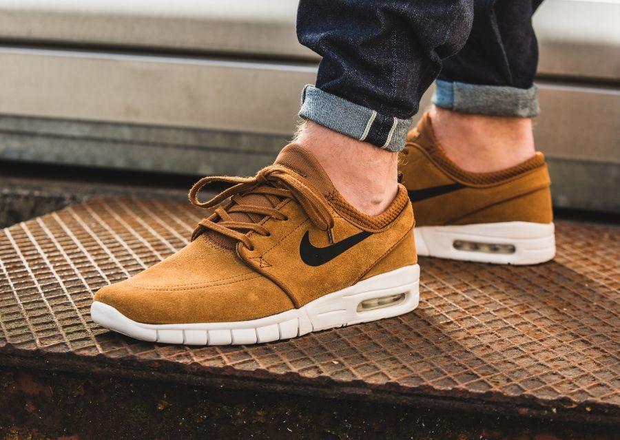 Nike Sb Stefan Janoski Max Suede Hazelnut Sneakers Men Fashion Nike Sb Shoes Nike Stefan Janoski