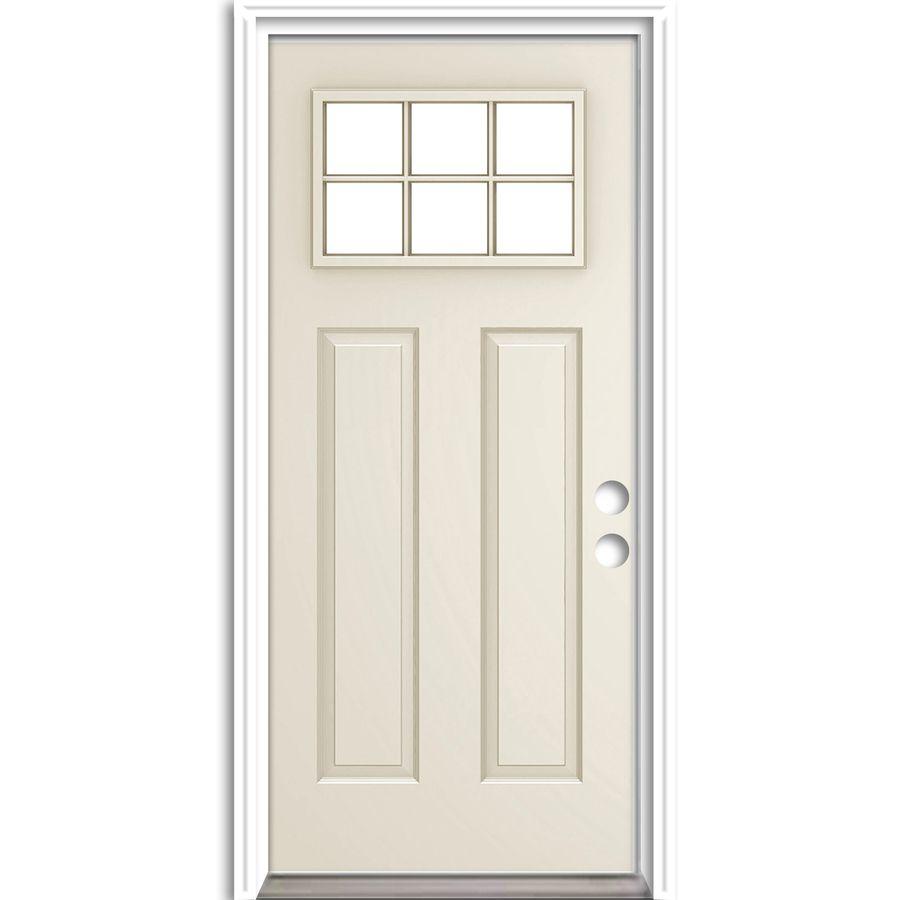 Shop Reliabilt 6 Lite Prehung Inswing Steel Entry Door Common 36 In X 80 In Actual 37 In X 81 In At Lowe Steel Entry Doors Entry Doors Reliabilt