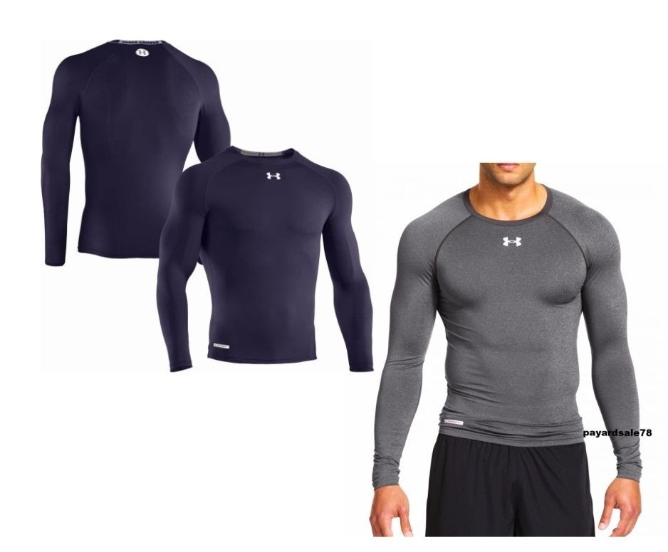 Men S Under Armour Long Sleeve Compression Shirt Athletic Apparel Second Skin Athletic Apparel Gym Attire Compression Shirt