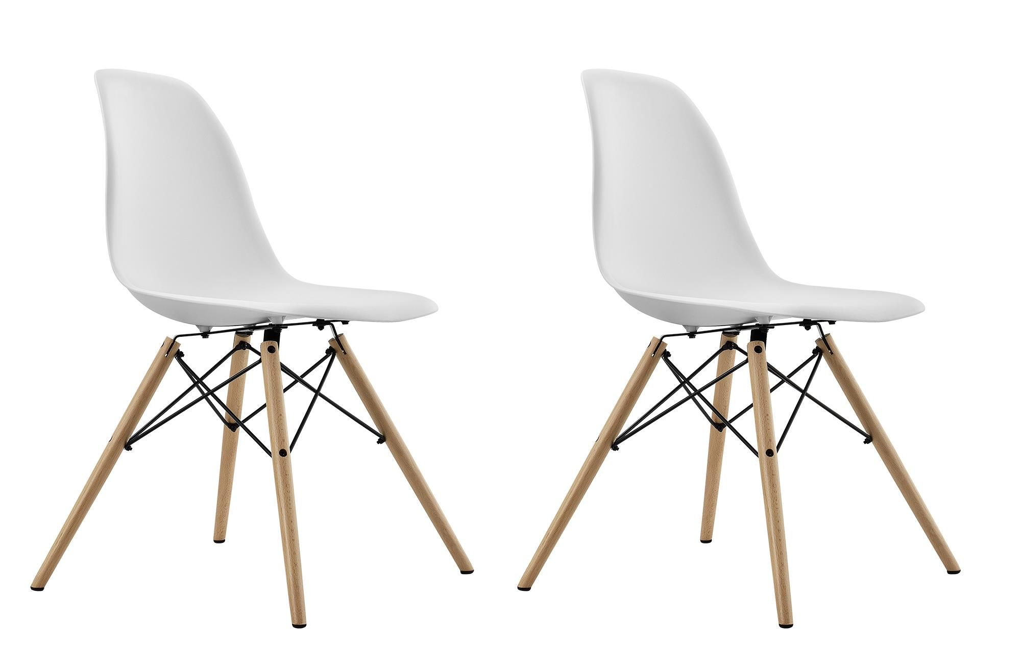 The Mid Century Modern Molded Chair With Wood Leg Is Stylish