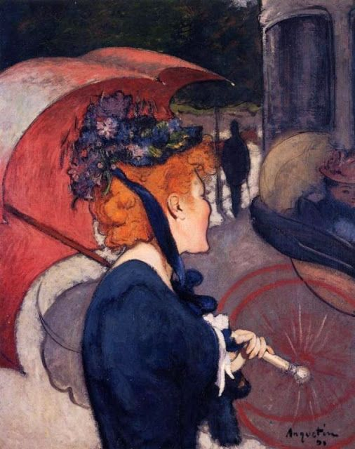 """""""Woman with Umbrella"""" by Louis Anquetin (1890)"""