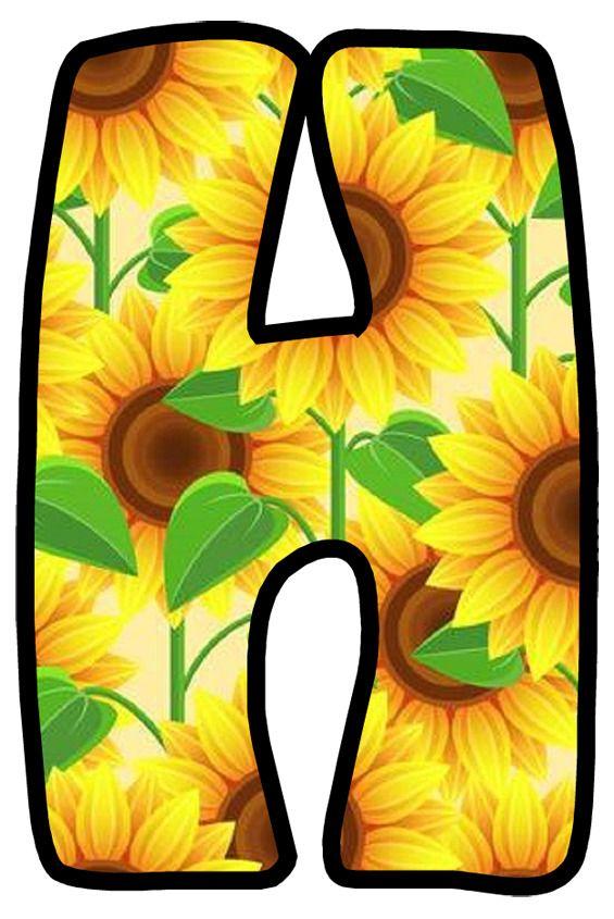 Buchstabe - Letter H | Flower letters, Fall scrapbook ...
