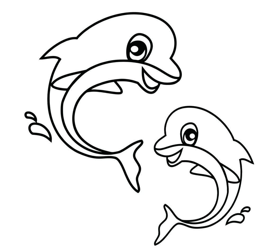 Easy Coloring Pages Dolphin Coloring Pages Easy Coloring Pages