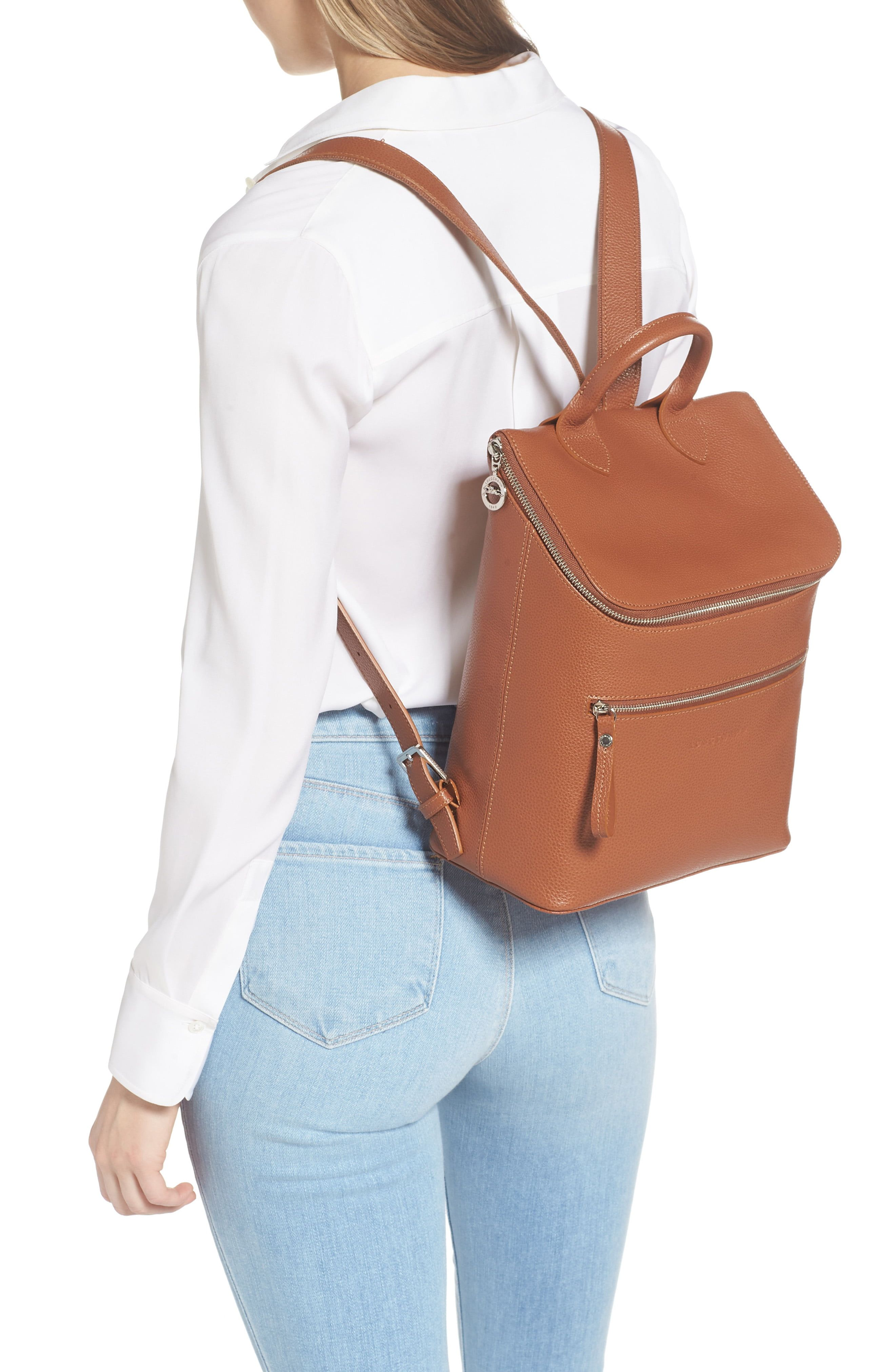 Longchamp Le Foulonne Leather Backpack | Nordstrom in 2021 ...