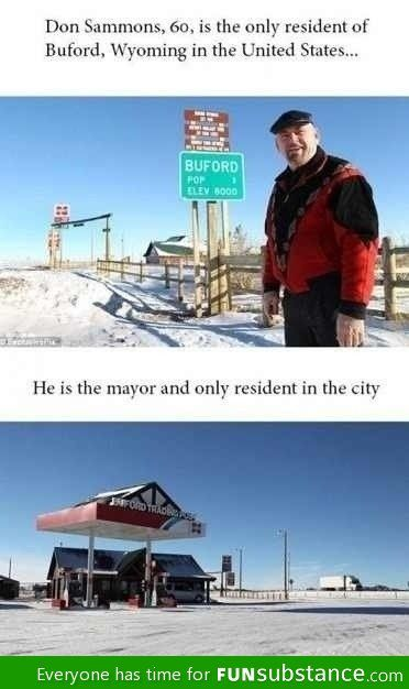Buford, Wyoming: Forever alone city
