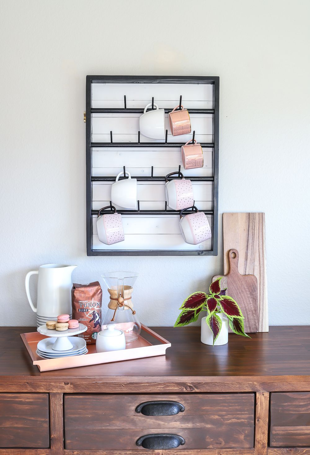How To Make A DIY WallMounted Coffee Mug Display Rack