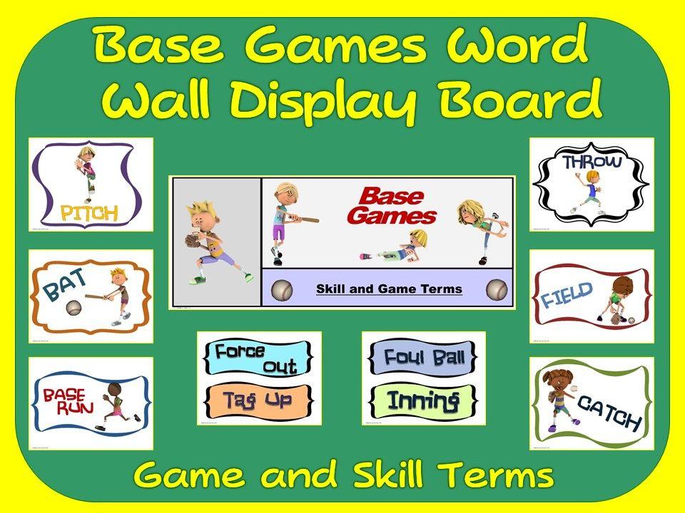 Base Games Word Wall Display: Skill, Graphics & Game Terms | $3-$5