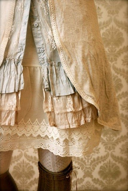 love the layers and lace