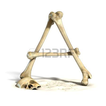 huesos fuente de la letra A photo