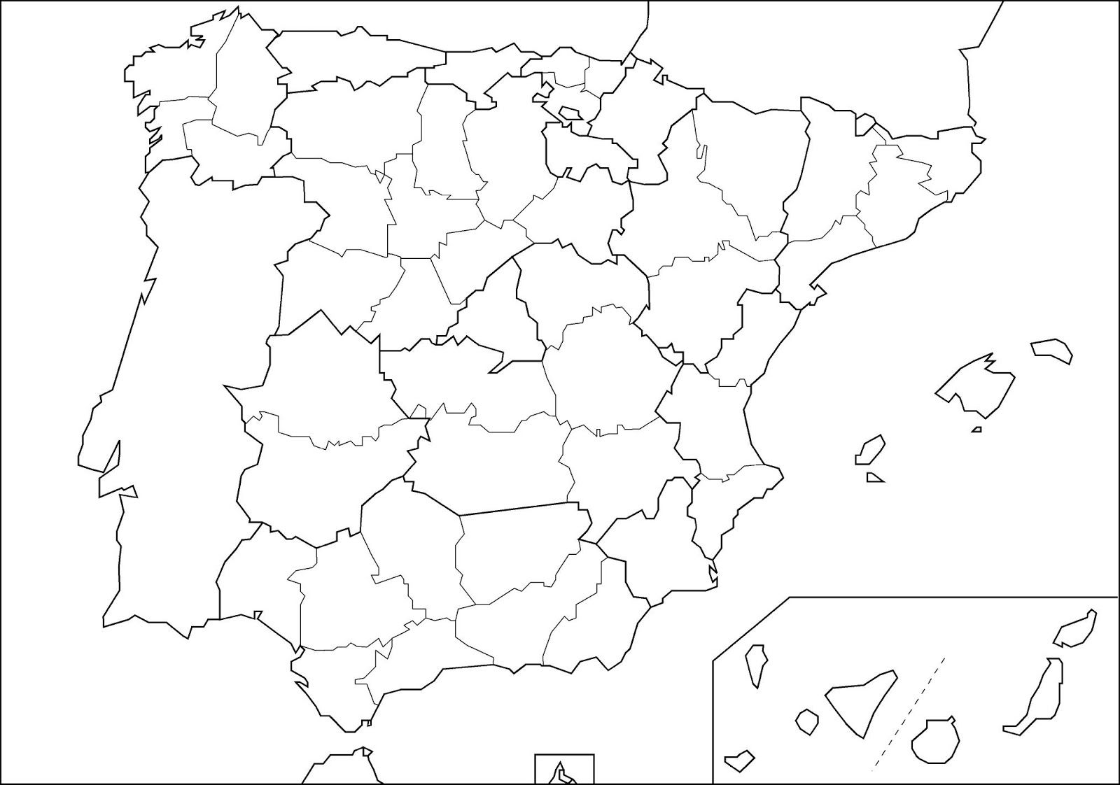 Mapa Politico España Mudo Provincias.Pin En Color By Numbers