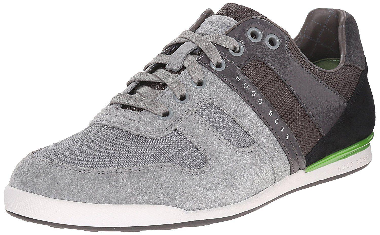 Hugo Boss Shoes Akeen Sneakers Men Grey Brand New