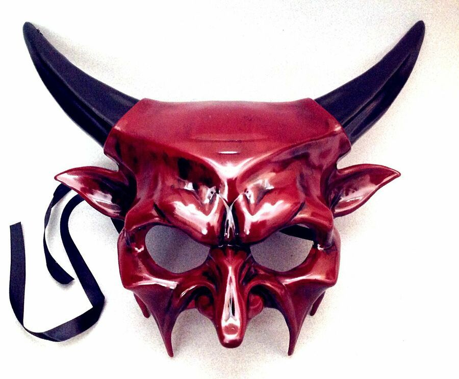 Halloween Black Devil Evil Costume Masquerade Party Cosplay Mask
