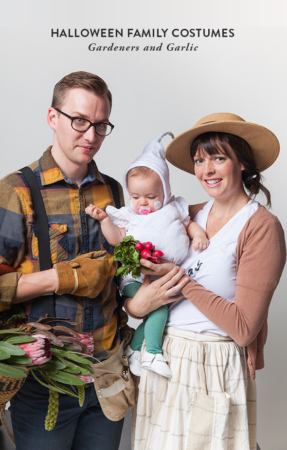 easy halloween costume for adults dress as gardeners dress up your baby as garlic - Baby And Family Halloween Costumes