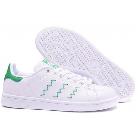 Adidas Originals Stan Smith W Zigzag White Green Classic ...