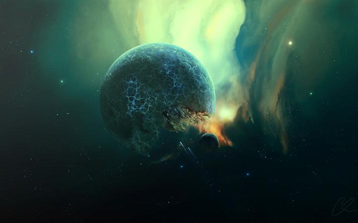 Sfondi spazio pianeti nebulose