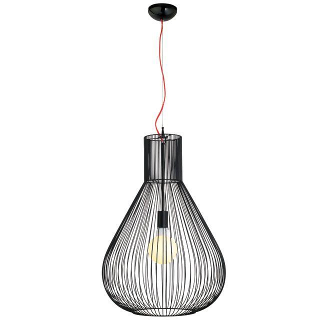 Suspension Colours Taiyo Noir L 48 X H 120 Cm Luminaire Eclairage Industriel Luminaire Plafond