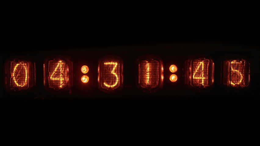 Image result for vacuum tube old digital clock