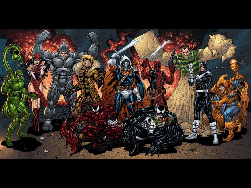 The Spider Man Villians 1024 X 768 Comic Book Villains Marvel Villains Marvel Comic Books