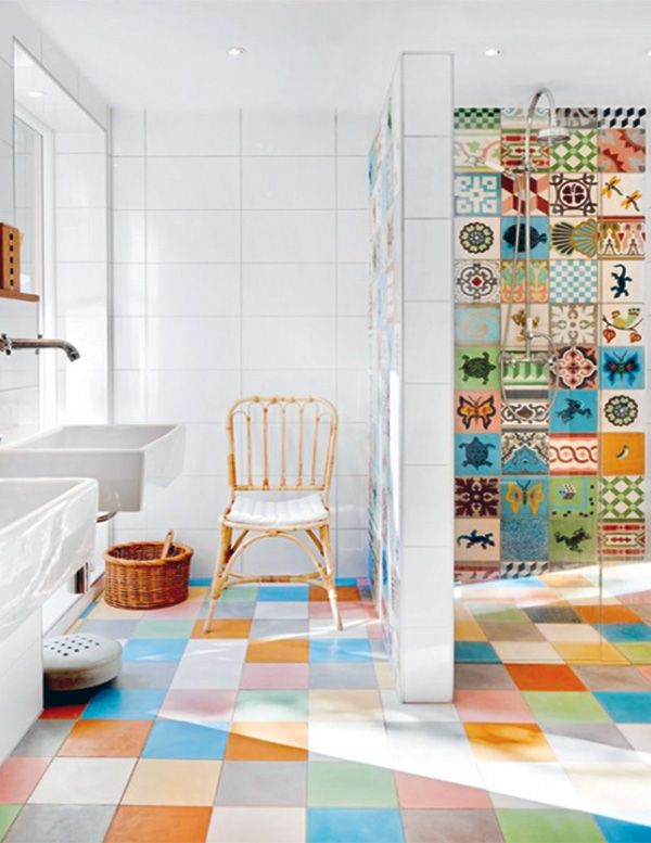 stylish bathroom Bathroom Pinterest Colorful bathroom