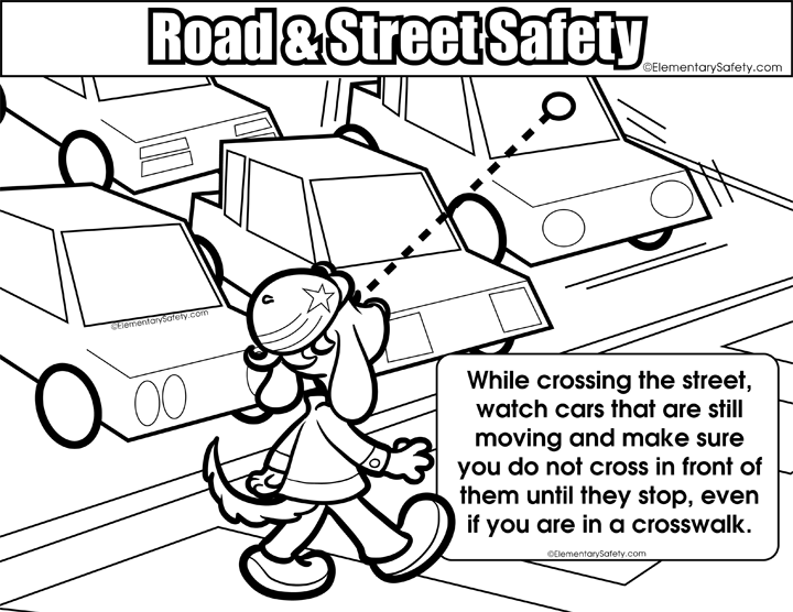 Elementary Safety Street Safety Coloring Pages Coloring Pages To Print