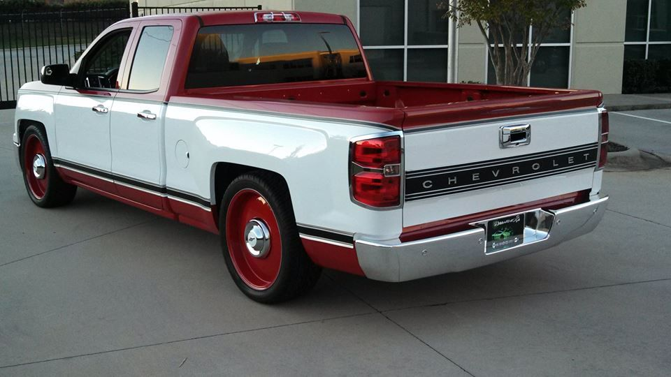 New Chevy Silverado Modified To Look Like A Vintage Chevy Truck