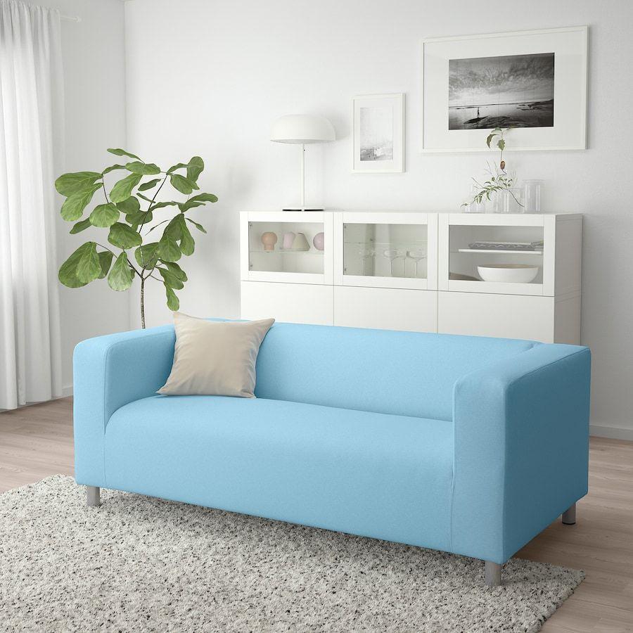 Klippan Loveseat Vissle Light Blue Ikea Popular Living Room Klippan Living Room Sofa