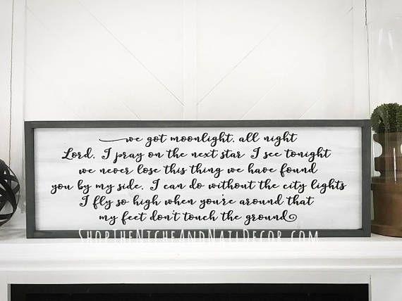 Wedding Song Lyrics Custom Wood Sign Gift Rustic