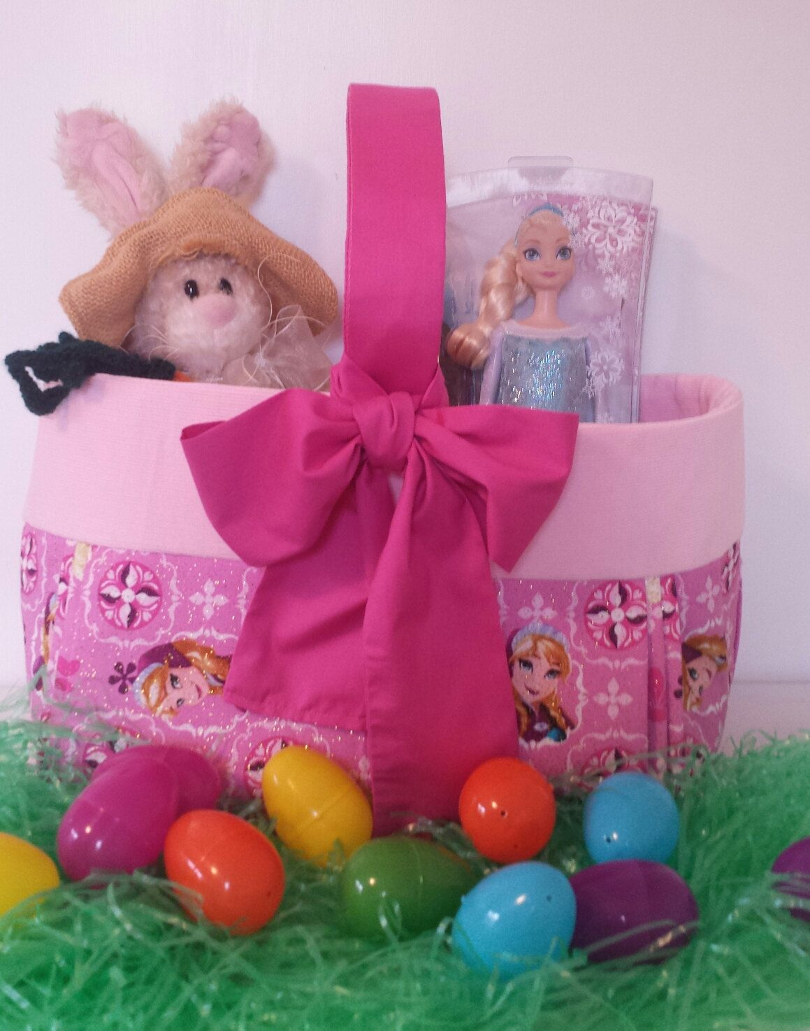 Large easter basket frozen elsa and anna easter basket disney large easter basket frozen elsa and anna easter basket disney frozen fabric basket negle Image collections